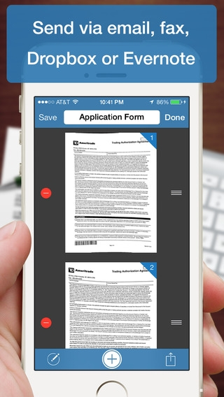 「Scanner Deluxe - Scan and Fax Documents, Receipts, Business Cards to PDF」のスクリーンショット 3枚目