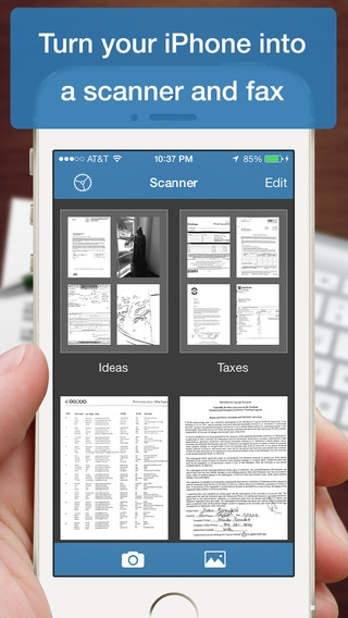 「Scanner Deluxe - Scan and Fax Documents, Receipts, Business Cards to PDF」のスクリーンショット 1枚目