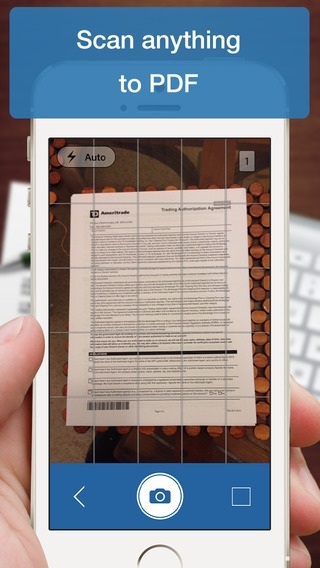 「Scanner Deluxe - Scan and Fax Documents, Receipts, Business Cards to PDF」のスクリーンショット 2枚目