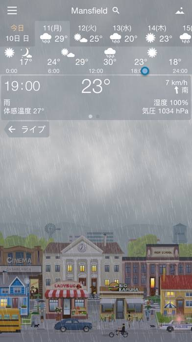 「YoWindow 天候」のスクリーンショット 3枚目