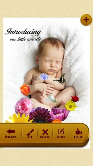 「Baby Photos - Make beautiful birth announcements.」のスクリーンショット 2枚目