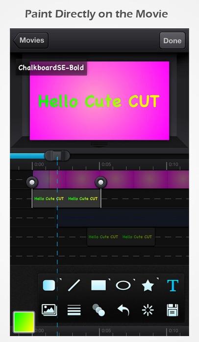 「Cute CUT Pro - 全機能動画編集」のスクリーンショット 2枚目
