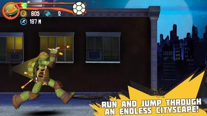 「Teenage Mutant Ninja Turtles: Rooftop Run」のスクリーンショット 1枚目