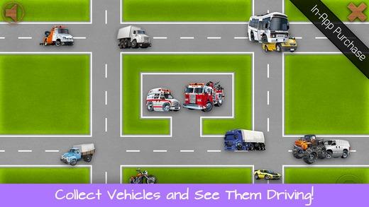 「幼児向けパズル - 子供用の車、トラック、オートバイ, 車」のスクリーンショット 3枚目