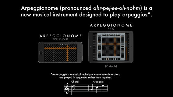 「Arpeggionome for iPhone - A New Musical Instrument」のスクリーンショット 2枚目