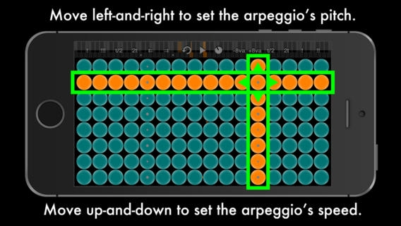 「Arpeggionome for iPhone - A New Musical Instrument」のスクリーンショット 3枚目