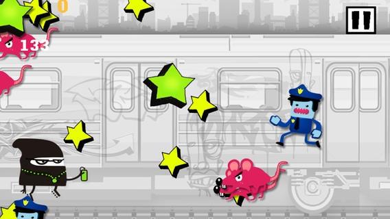 「A Subway Police Chase Run Racing - Free Game」のスクリーンショット 2枚目