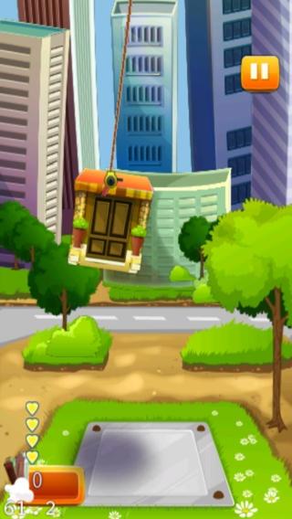 「Tower Craft Free - 最も楽しい塔男の子、女の子と子供のためのゲームを構築する - クールなファニー3D無料ゲーム - スカイビル建設物理学は、アプリケーションを積み重ねる」のスクリーンショット 2枚目