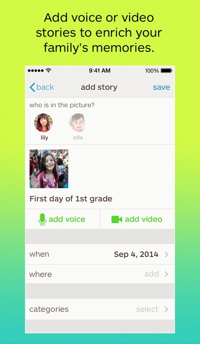 「Keepy - Organize, Share and Make Things with Your Kids' Artwork, Schoolwork and Memories」のスクリーンショット 1枚目