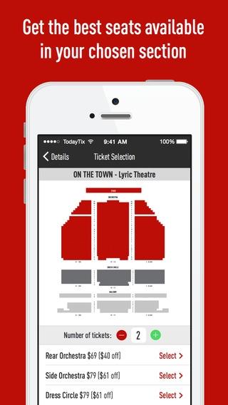 「TodayTix – New York Theater Tickets App (Broadway & Off-Broadway Shows)」のスクリーンショット 3枚目