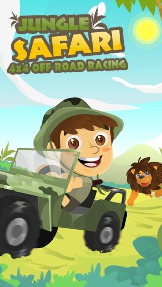 「ロードレースオフジャングルサファリ の - 楽しいアドベンチャーレースゲーム Jungle Safari 4x4 Off Road Racing」のスクリーンショット 1枚目