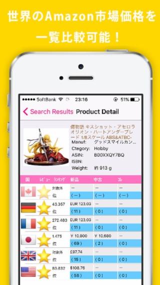 「輸出せどり – バーコードで世界価格の同時比較」のスクリーンショット 1枚目