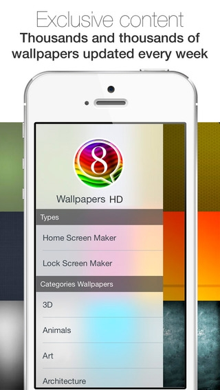 「Free Wallpapers HD for iOS 8 & iOS 7 :: Custom your themes with hd wallpapers for iPhone, iPod touch and iPad」のスクリーンショット 3枚目