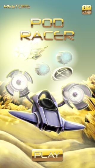 「Pod Racer - 無料のiPhone / iPadアプリソニックドラッグレース·エディション」のスクリーンショット 1枚目