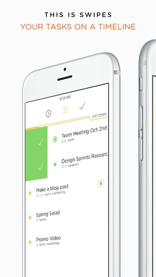 「Swipes - To do list & Task manager to Plan, Schedule and Achieve your goals.」のスクリーンショット 1枚目