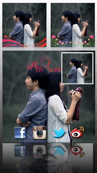 「AceCam Romantic Greetings - Photo Effect for Instagram」のスクリーンショット 3枚目