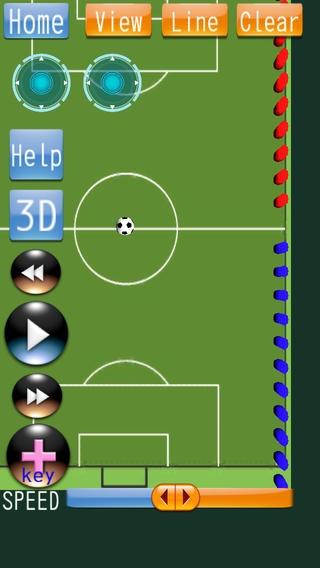 「サッカータクティクスボードミニ」のスクリーンショット 2枚目