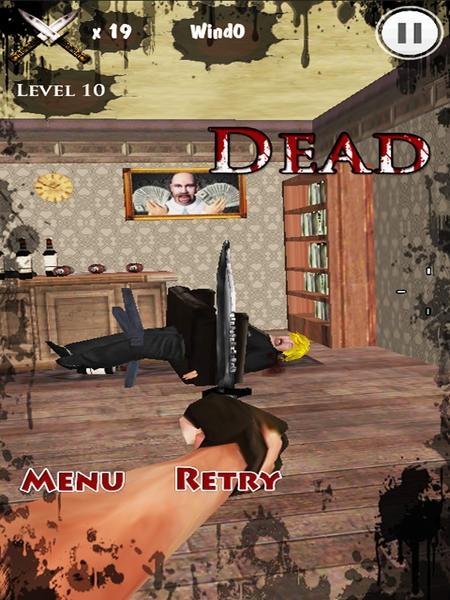 「KNIFE KING 2-SHOOT BOSS 3D HD Plus」のスクリーンショット 2枚目
