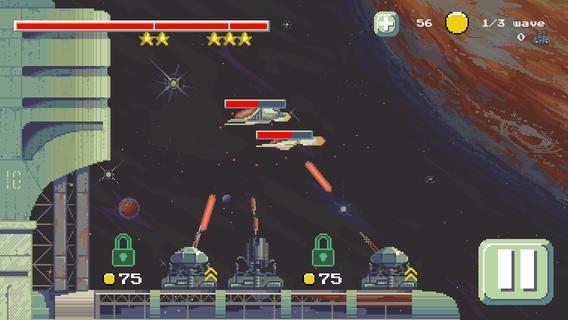 「スペースディフェンス (Space Defense) Free TD - シューティングサバイバル戦略ゲーム」のスクリーンショット 1枚目