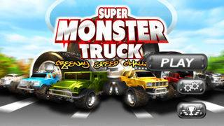 「A Super Monster Truck Racing 3D- Free Real Multiplayer Offroad Race Game」のスクリーンショット 1枚目