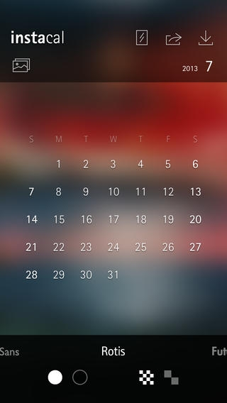 「Instacal Free -personalized calendar wallpaper to beautify your lock-screen」のスクリーンショット 2枚目
