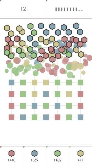 「Ninihex: 同じ色で挟むパズル」のスクリーンショット 1枚目