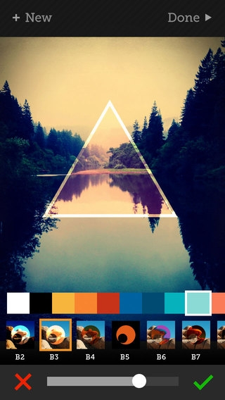 「Tangent - Add Geometric Shape, Pattern, Texture, and Frame Overlays and Effects to Your Photos」のスクリーンショット 2枚目