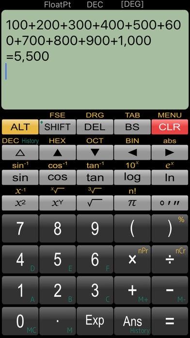 「関数電卓 Panecal Plus」のスクリーンショット 1枚目