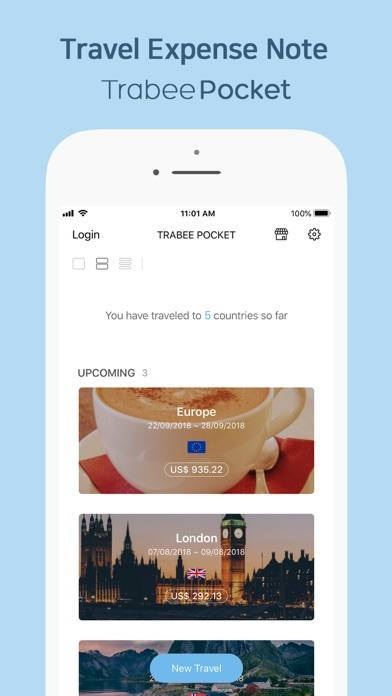 「TrabeePocket - 簡単な旅費管理」のスクリーンショット 1枚目