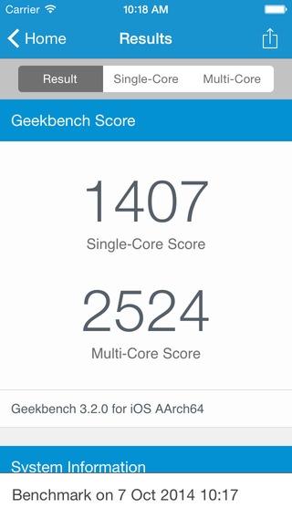「Geekbench 3」のスクリーンショット 3枚目