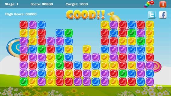 「A Candy Jelly Bean Match - 無料ハーデスト病みつきブロックバブルゲーム」のスクリーンショット 2枚目