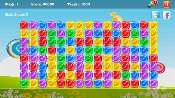 「A Candy Jelly Bean Match - 無料ハーデスト病みつきブロックバブルゲーム」のスクリーンショット 1枚目