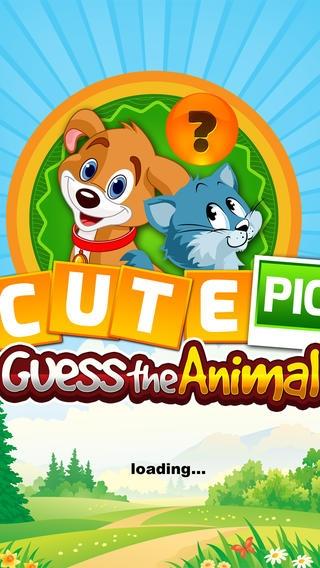 「かわいい写真の推測、動物 - 無料の単語ゲーム」のスクリーンショット 1枚目