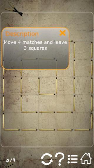 「Matchstick Puzzles」のスクリーンショット 2枚目