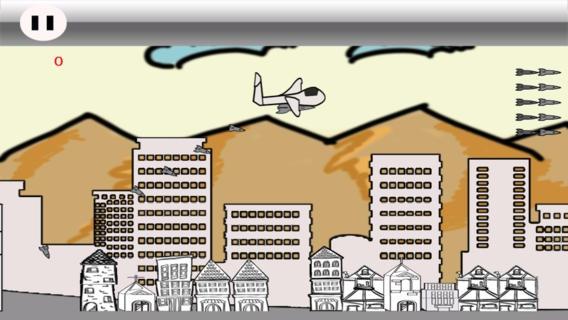 「飛行機の落書きの爆撃 戦争ゲーム: 最高の無料の アクション格闘ゲーム」のスクリーンショット 2枚目