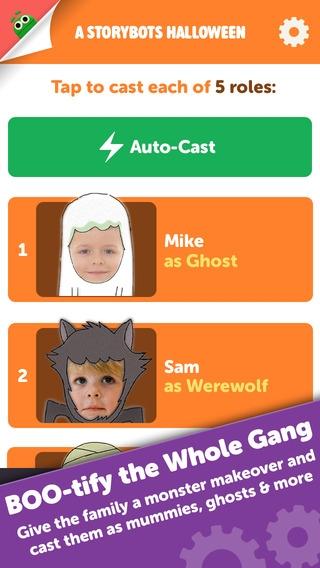 「A StoryBots Halloween - Starring You as a Ghost, Vampire, Frankenstein, Werewolf & Mummy for Kids, Parents, Teachers」のスクリーンショット 2枚目