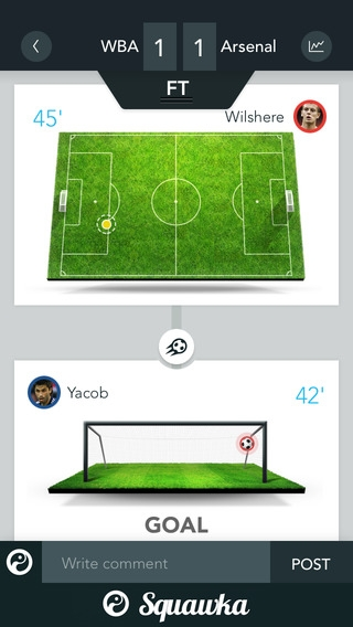 「The Squawka Football App」のスクリーンショット 1枚目