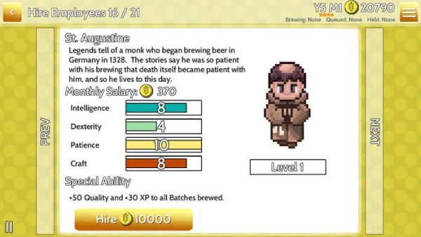 「Fiz: The Brewery Management Game」のスクリーンショット 3枚目