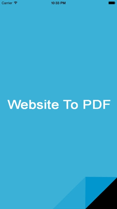 「Website To PDF」のスクリーンショット 1枚目