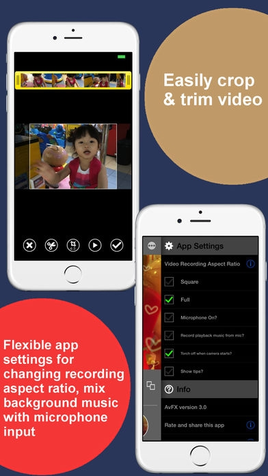 「AvFX - awesome video effect, editor & background music edit for Instagram, Facebook, Youtube, Vine」のスクリーンショット 3枚目