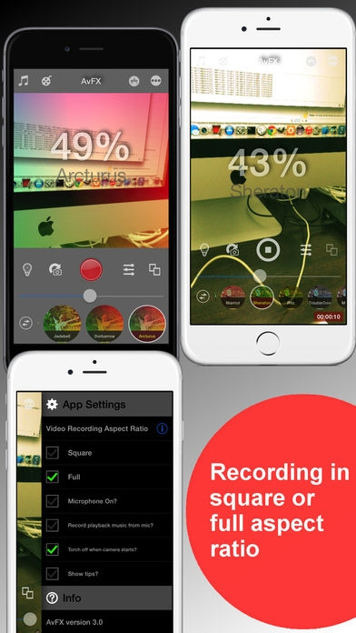 「AvFX - awesome video effect, editor & background music edit for Instagram, Facebook, Youtube, Vine」のスクリーンショット 2枚目
