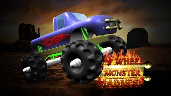 「4つの車輪のモンスターの狂気 - 最高の無料のクールなゲームズをプレイ アプリおすすめ飛行機オセロオススメ脱出最新マウンテンマリオランキンググリーきせかえ野球サッカーテトリス着」のスクリーンショット 1枚目