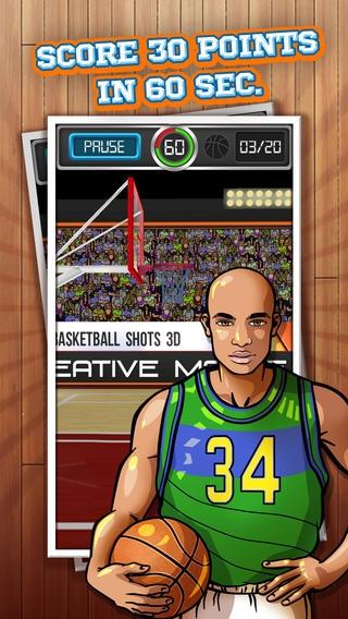 「Basketball Shots 3D™ Online」のスクリーンショット 2枚目