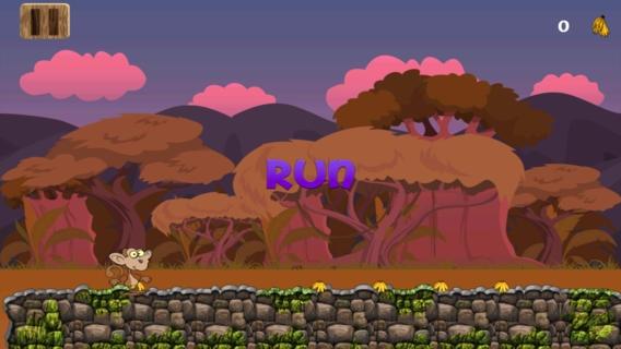 「バナナ猿は実行中のゲーム:無料動物ゲーム楽しい:ipad と iphone アプリケーション」のスクリーンショット 2枚目