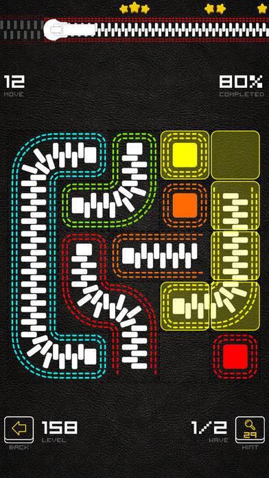 「ファスナーパズルゲーム - Zippers」のスクリーンショット 2枚目