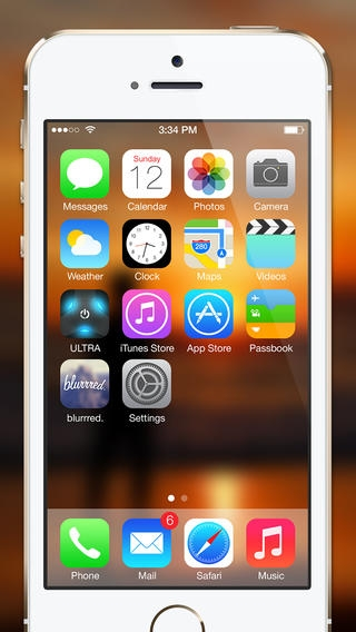 「blurrred. - Blur Your Wallpapers For iOS7」のスクリーンショット 2枚目