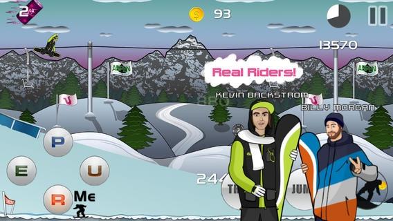 「Pure Snowboarding - Olympic Snowboard Racing Game」のスクリーンショット 2枚目