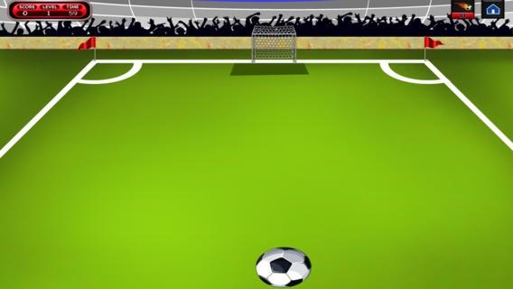 「サッカーのスーパーシュートマニア - フリックサッカー決勝 - 無料版」のスクリーンショット 3枚目