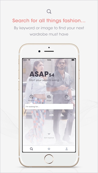 「ASAP54 Search and Shop for Fashion」のスクリーンショット 1枚目