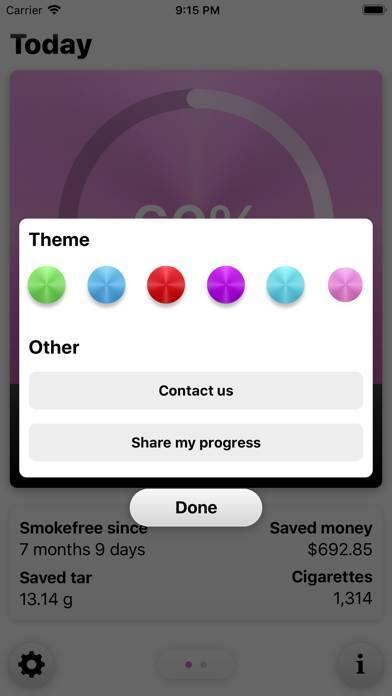 「Smokefree - Quit smoking」のスクリーンショット 3枚目